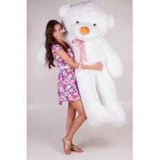"""Большой плюшевый медведь TeddyBoom """"Тедди"""" 200 см. белый"""