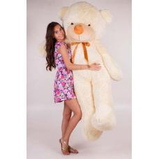 """Большой плюшевый медведь TeddyBoom """"Тедди"""" 200 см. кремовый"""