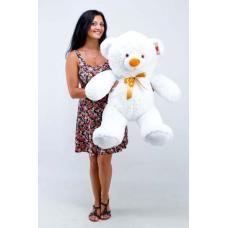 """Плюшевый медведь TeddyBoom """"Томми"""" 100 см. белый"""