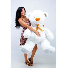 """Большой плюшевый медведь TeddyBoom """"Томми"""" 150 см. белый"""